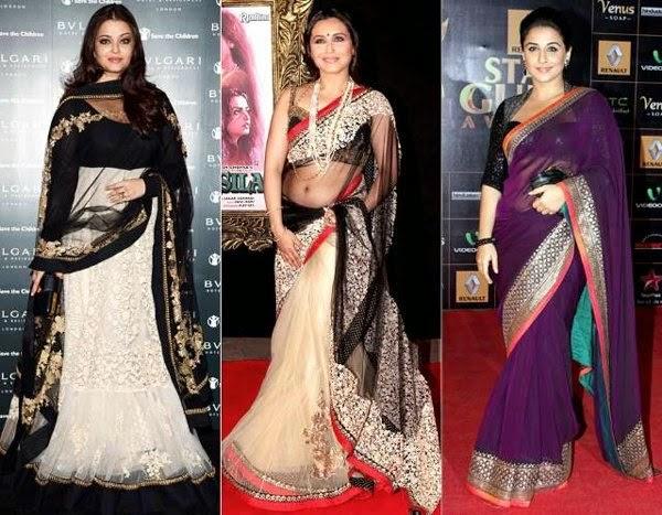 Bollywood Actress in Saree.