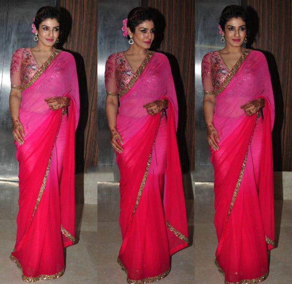 Raveena Tandon's look
