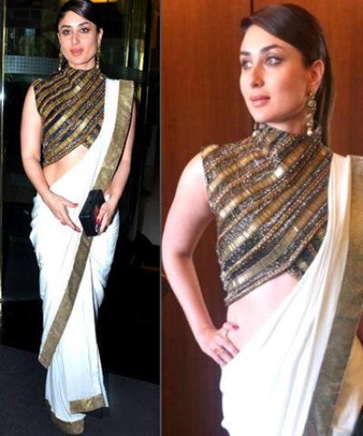 Kareena Kapoor Khan's Formal Saree Look.