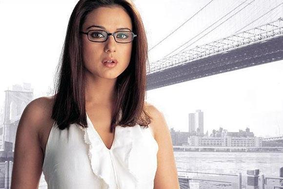 Preity Zinta in nerdy glasses.