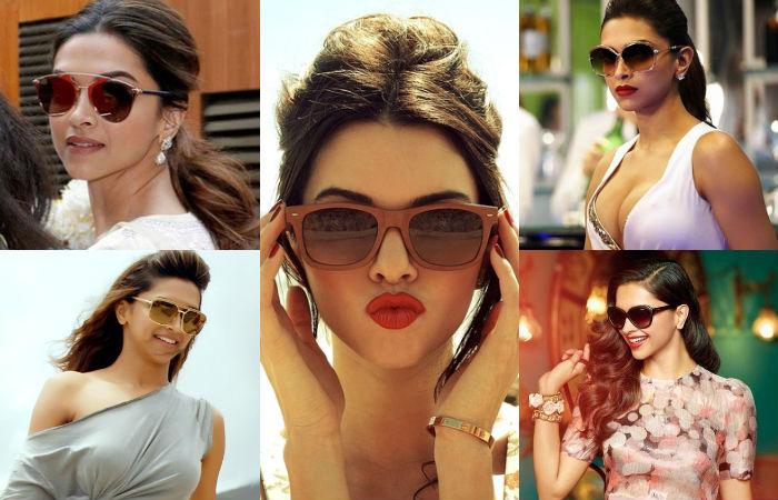 Deepika Padukone with sunglasses.