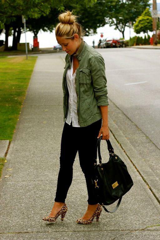 The model in Khaki Jacket.