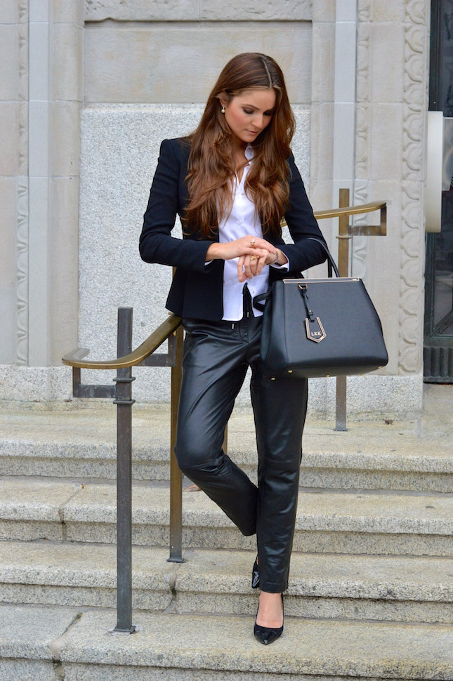 The model in Blazer with formal Trousers.