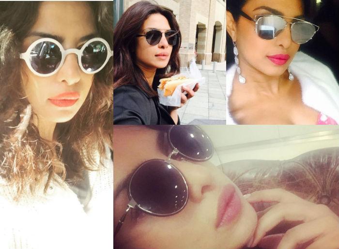 Priyanka Chopra in sunglasses.