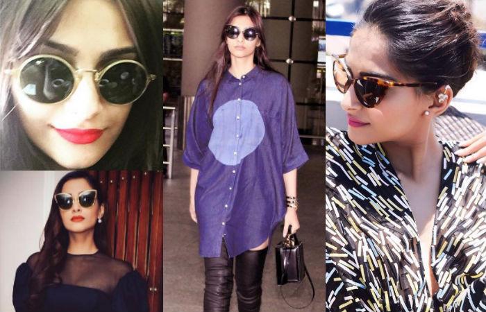 Sonam Kapoor in Sunglasses.