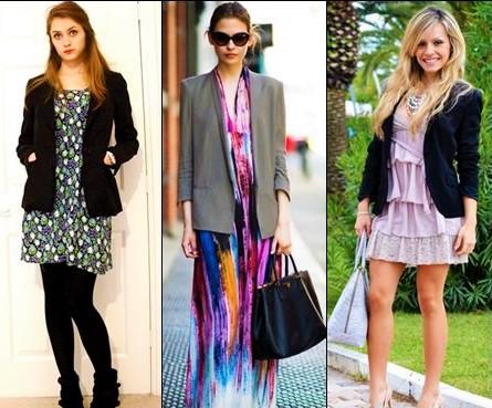 Women in Blazer with Dress.