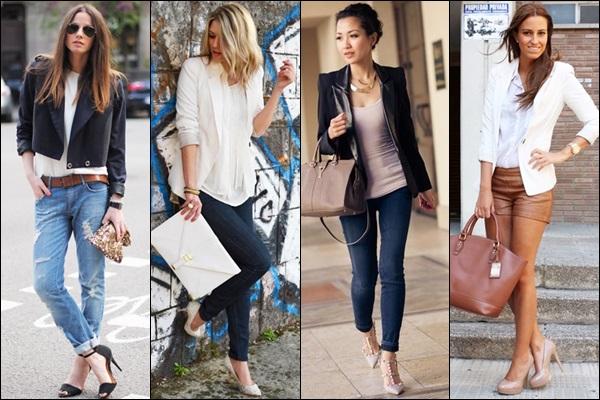 The models in blazer.