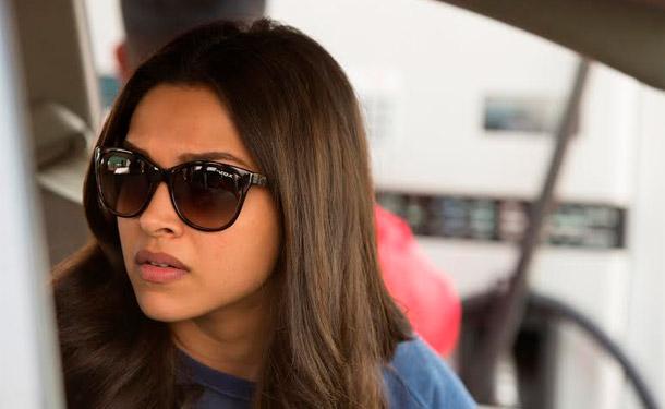 Deepika Padukone with retro square sunglass.