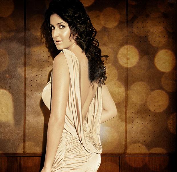 Bollywood Actress Katrina Kaif in backless dress.