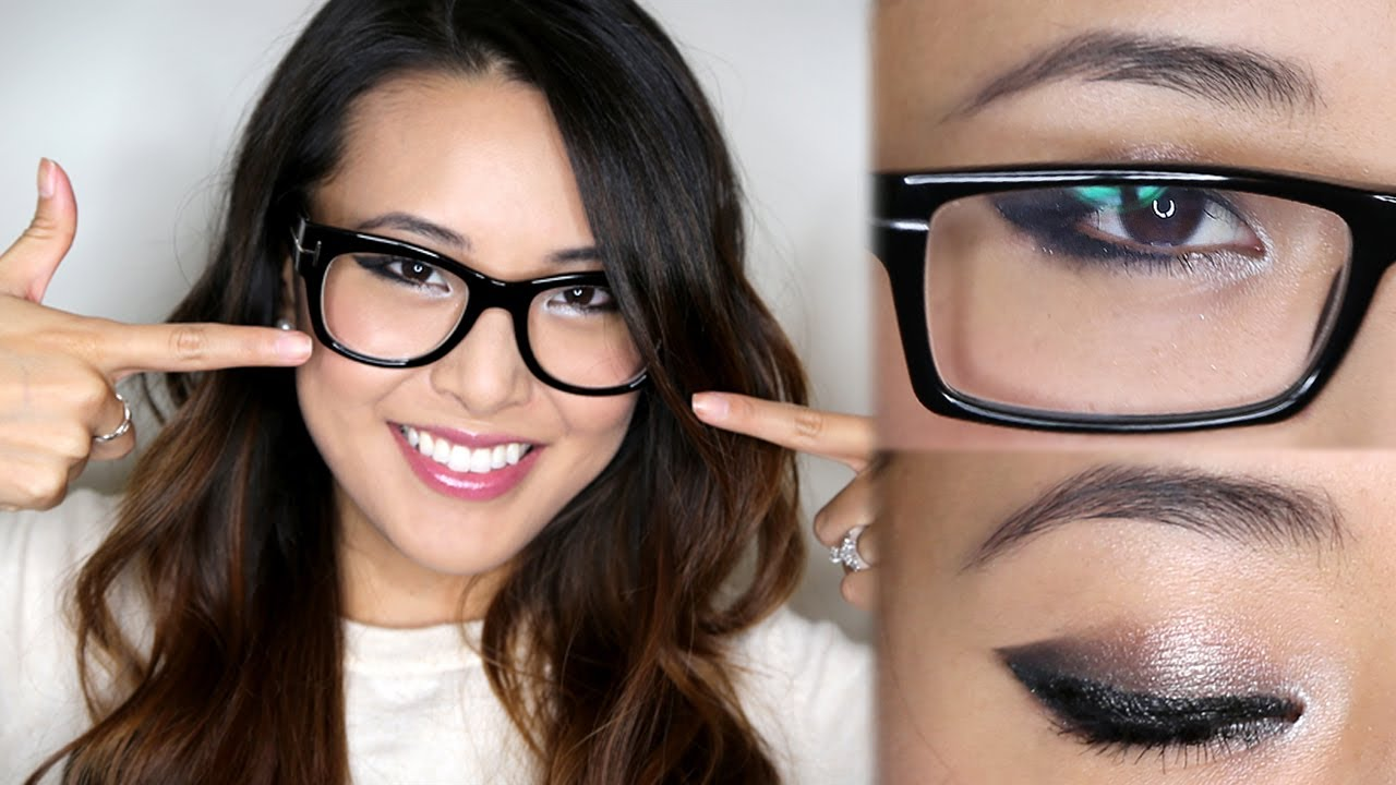 Eye make-up with eyeglasses