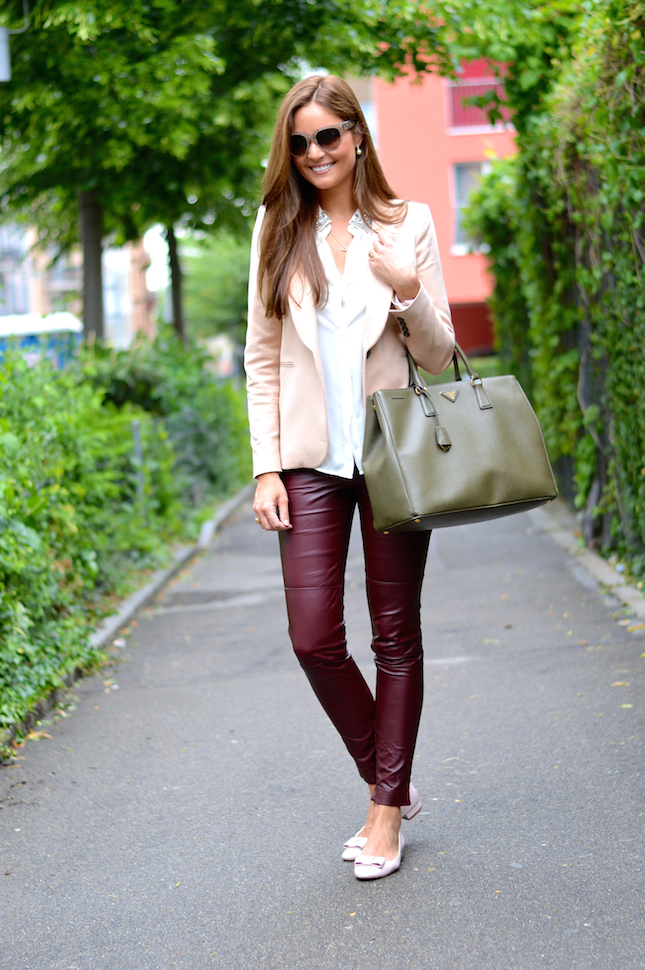 The model in Blazer with Ankle Length Pants.