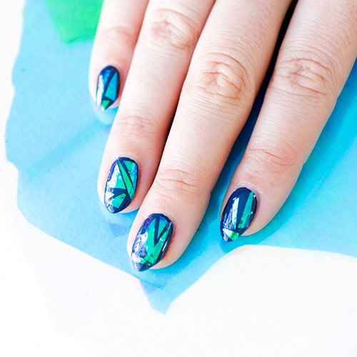 Trending now: glass manicure