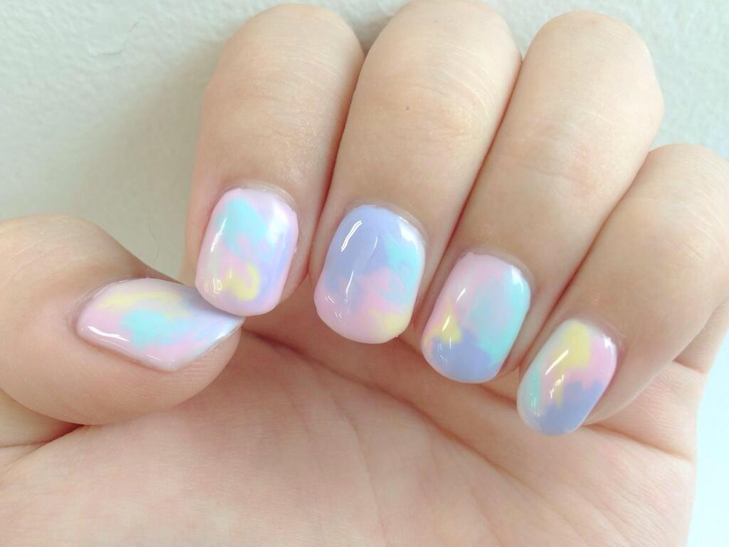 Pastel Hues Nail Design