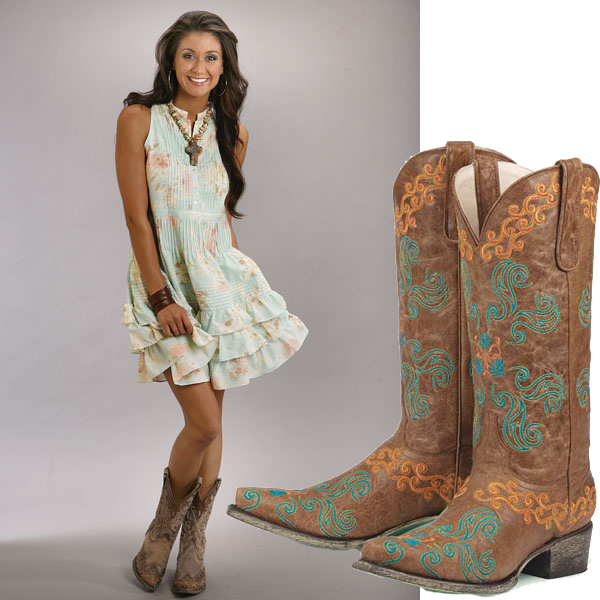 Boots with dress
