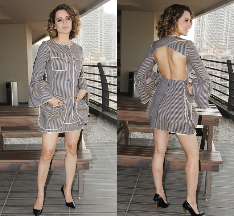 Kangana in a Fendi dress